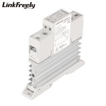лучшая цена TRD600D25L 25A DC DC Heat Sink SSR Solid State Relay Din Rail 5V 12V 24V 32VDC Input 24-600VDC Output Voltage Control Relay Unit
