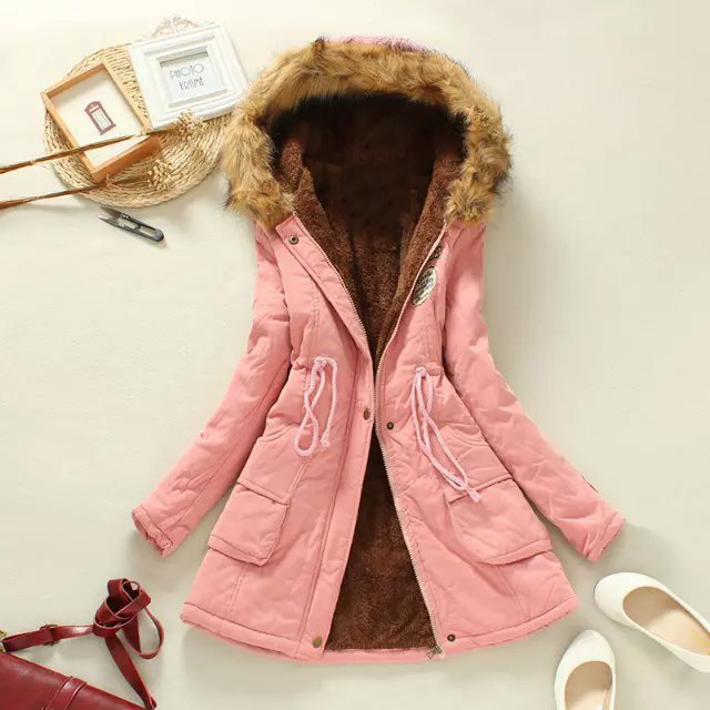 2017 New Winter Coats Women Cotton Hooded Jacket Female Casual Thickening Parka Plus Size