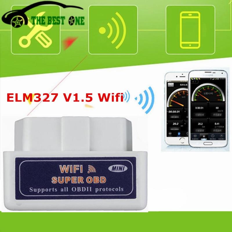2018 Niedrigsten Preis Super Mini Elm327 Wifi Hw V1.5 Ulme 327 Wi-fi Obdii Obd2 Sw V2.1 Diagnosescanner Codeleser Elm-327 1,5