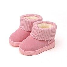 2017 Зимняя мода ребенок Снегоступы для Обувь для девочек Обувь для мальчиков теплые ботинки Martin Обувь Повседневное плюшевые детей Малыш обуви