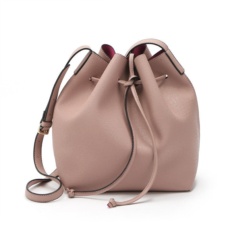 no logo Mansur Gavriel Bucket bag women Pu Leather String Shoulder bag Luxury Ba