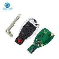 OkeyTech для Benz 4 кнопки 433 мГц удаленного Управление ключевые со вставкой пустой ключ лезвие для Mercedes Benz Поддержка NEC и BGA 2000 + год