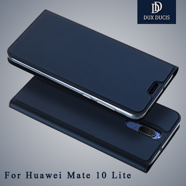 pretty nice bb40b 8d5b4 huawei mate 10 lite case Dux Ducis Wallet Leather cover huawei mate 10 Flip  Stand Leather case For huawei mate10 lite cases 5.9