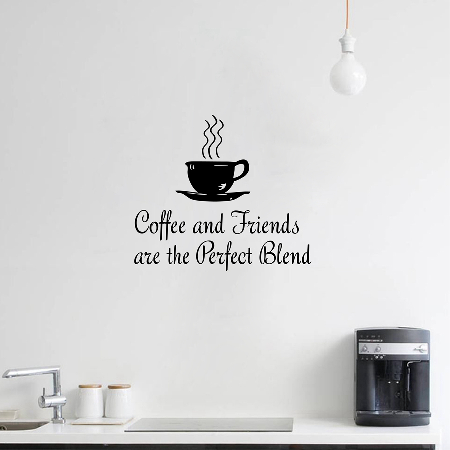 decor vinyl stickers picture more detailed picture about kitchen vinyl wall sticker dining kitchen coffee quotes wall decal