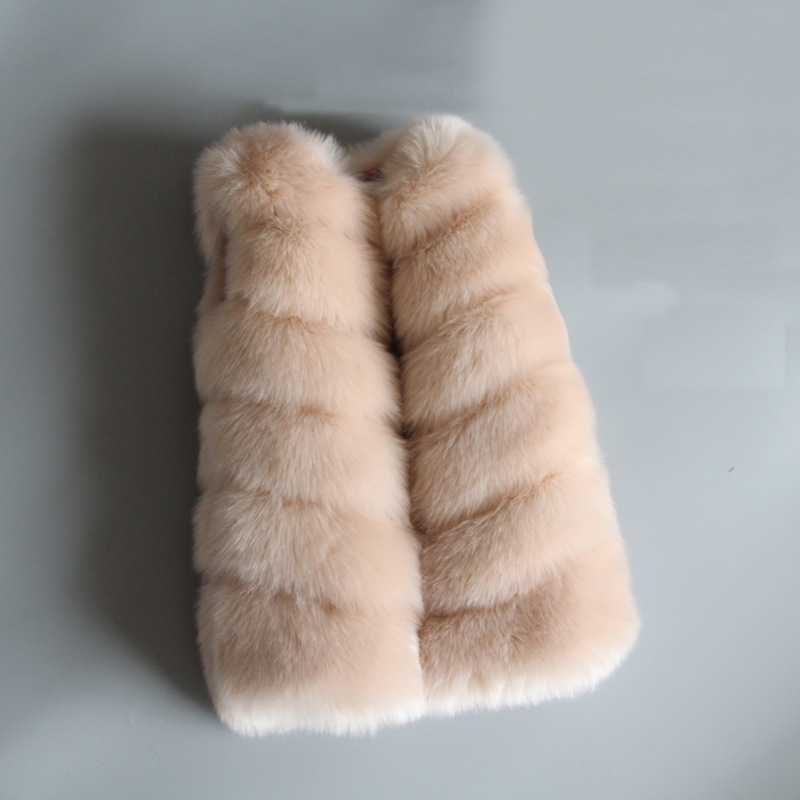 Lagabogy Kids Fur Vest For Girls Waistcoat Outwear Faux Fur Vest Girls Imitation Fur Coat Children Autumn Winter Vest TZ285 2018 autumn and winter new children s fur throwing cap vest stitching vest coat vest cotton suit parent child waistcoat zpc 215