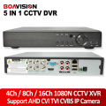 5 IN 1 AHD CVI TVI CVBS NVR 4Ch 8Ch 16Ch 1080N Security CCTV DVR NVR XVR Hybrid Video Recorder 1080P Onvif Max 4TB P2P View