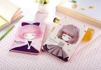 Dla apple ipad mini 1 2 3 7.9 calowy tablet premium slim cartoon słodkie piękne dziewczyny luksusowe pu leather stań folding przerzuć skrzynki pokrywa