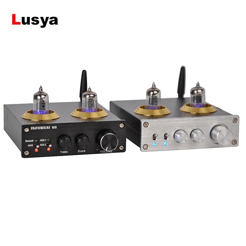 Bluetooth 4.0 Tubo Amplificatore M8 HIFI 6J1 CSRA64215 di Potenza Digitale Amplificador 50 w * 2 ES9023 DAC Supporto 24bit Amplificatori bordo