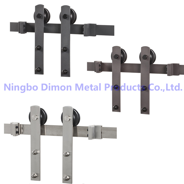 Free Shipping Dimon High Quality Wood Sliding Door Hardware DM-SDU 7207 With Damper Kits (without Sliding Track)