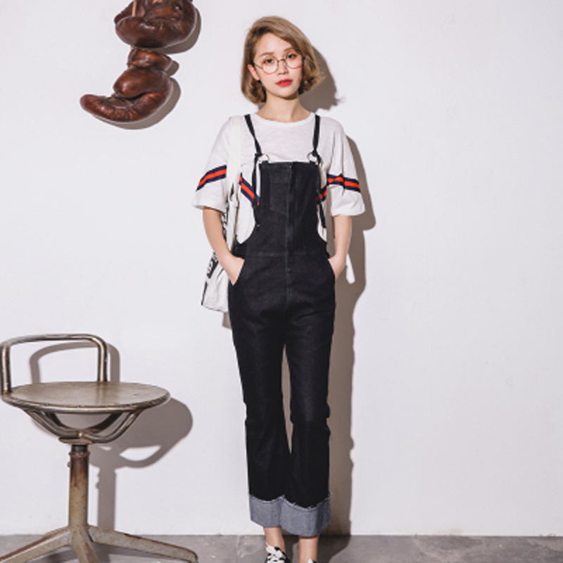 New fashion Spring Autumn Denim Jumpsuits Women Jeans Skinny Suspender Female Slim Solid Overalls Plus Size Long Pants All Match