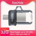 SanDisk flash usb OTG USB3.0 32gb 128GB Extreme high speed Dual OTG USB Flash Drive 64GB Pen Drives 16GB PenDrives 150M/S