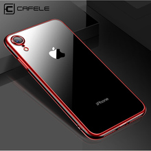 CAFELE New Plating Case for iphone X XS MAX XR Soft Cover Ultra Thin Transparent Gorgeous TPU