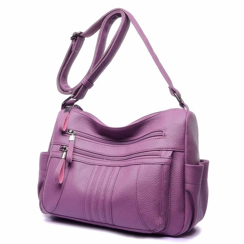 Signore Multi Marca red Messaggero purple Sacchetto Blsck Lusso Del Progettista Chiusura Casuale 2019 Pelle tasca Di Borsa Lampo Della Spalla Delle blue In brown YrB5wYq
