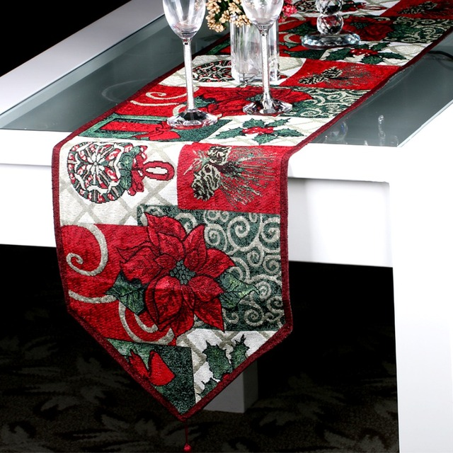 Amazing Christmas Style Table Runner For Wedding Bed Runner New Year Christmas Table  Decoration Tapestry Table Cloth