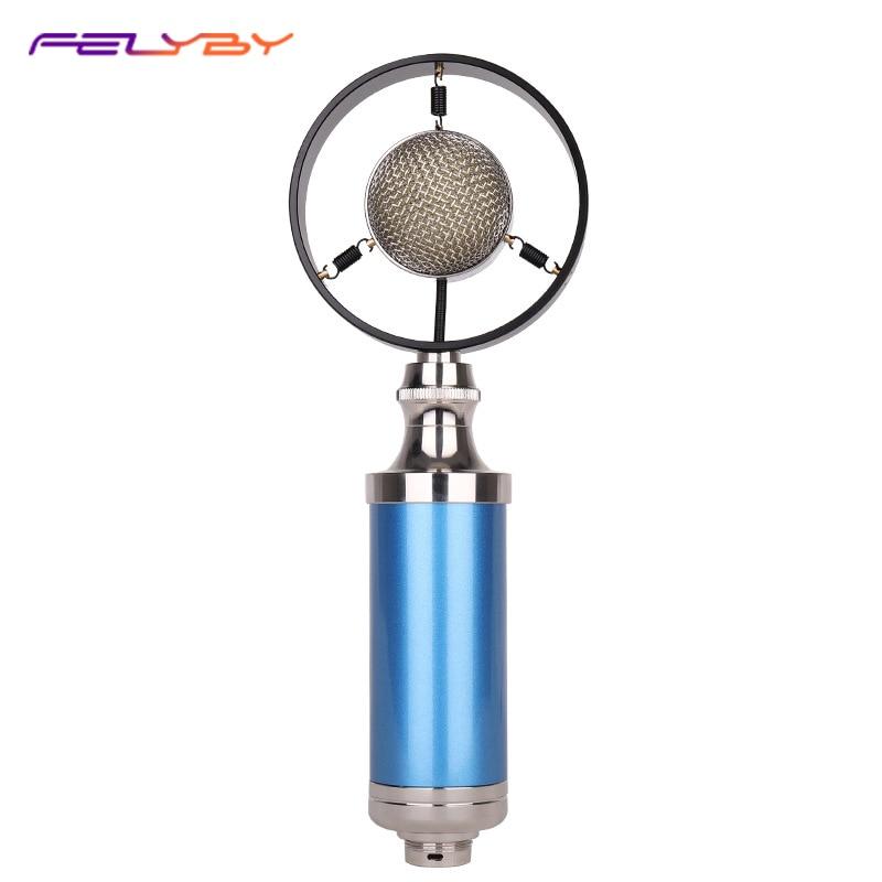 FELYBY Microphone à condensateur téléphone portable ordinateur enregistrement Microphone à condensateur transfrontalier pour Microphone à condensateur