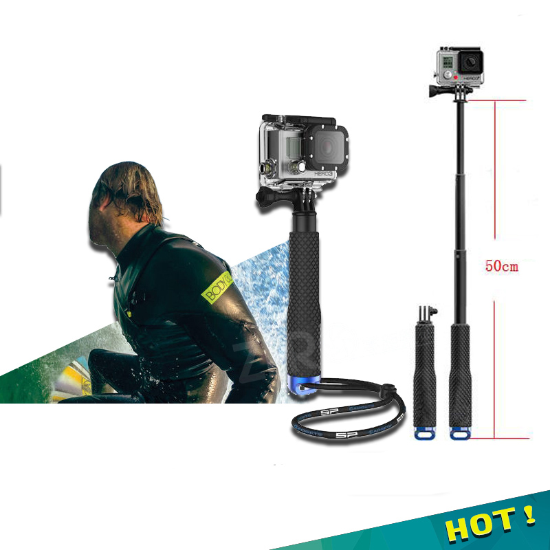 hot self selfie stick handheld waterproof monopod screw for gopro go pro hero 4 3 3 5 xiaomi. Black Bedroom Furniture Sets. Home Design Ideas