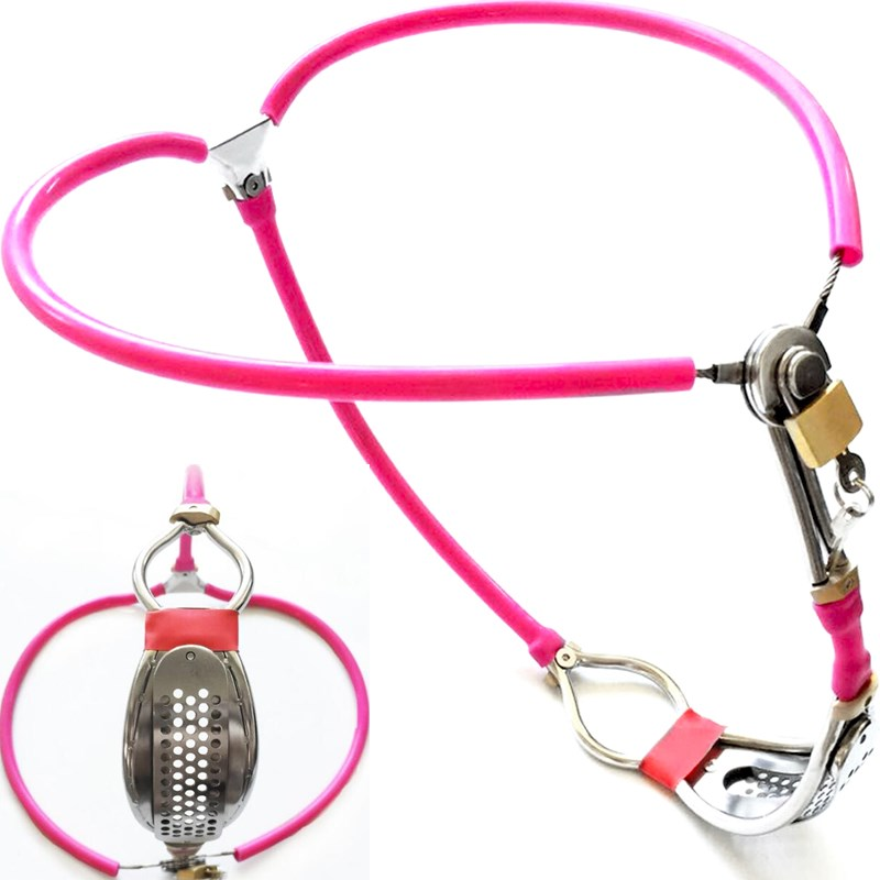 New Long-term wear Invisible Female Chastity Belt Device Pink Full Adjustable