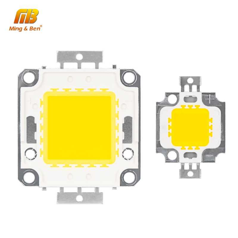 10W 20W 30W 50W 100W LED Beads Chip High Brightness 9-12V 30-36V Cold White Warm White DIY for Floodlight Spotlight With Driver