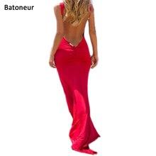 Červené sexy šaty ke krku s rozparkem a výstřihem na zádech
