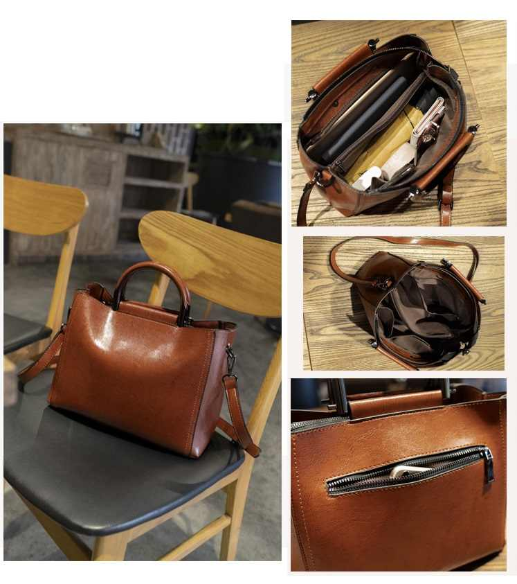 Vintage Handtassen Voor Vrouwen 2020 Vrouwelijke Lederen Handtas Hoge Kwaliteit Big Bags Top-Handvat Tassen Casual Tote Sac Een belangrijkste Femme C994
