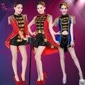 Trajes de baile de Jazz moderno traje de la danza de nueva etapa servicio de bar discoteca de moda lentejuelas mujeres cantante bailarina zapatos de desempeño estrella