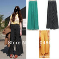 2015 New Fashion women Ladies  Vintage Polka Dot Trousers Palazzo Kaftan Pants High Waist Wide leg Free Shipping