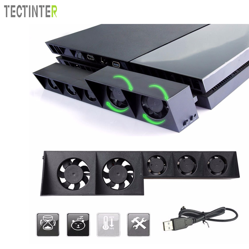 For PS4 Games Accessories Cooling Fan For Sony PlayStation 4 Host Cooler External Turbo Temperature Control Fan