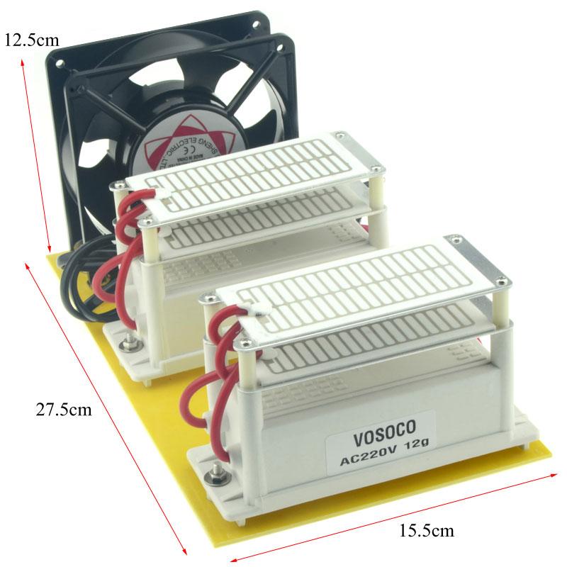 24g/h Ozone Generator Portable DIY 220V Ceramic Plate Ozonizer water Air sterilize Purifier treatment Sterilization disinfection все цены