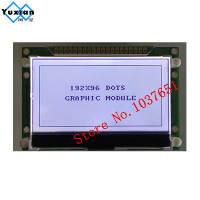 US $12 98 |192x96 19296 cog Graphic lcd display 72x39mm UC1638C COG  parallel serial SPI IIC I2C 3 3V LG192962 High quality bright-in Screens  from