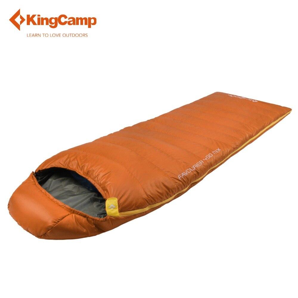 KingCamp Camping Bag 450MIX Envelope 32 Degree F / 0 Degree C Down Spliced Micro-Fiber Sleeping Bag with Hood for Camping, kingcamp favourer 450mix envelope 32 degree f 0 degree c down spliced micro fiber sleeping bag with hood for camping