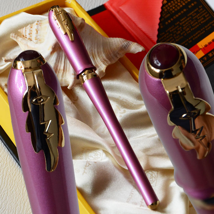 PICASSO 986 EXECUTIVE LIGHT PURPLE AND GOLDEN ROLLER BALL PEN LEAF with original box hercules 986 44 250