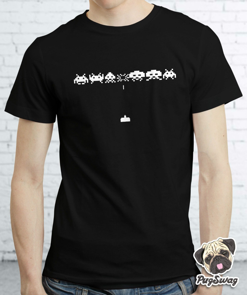 Space invaders gamer gaming retro funky arcade tshirt t for Funky t shirts online