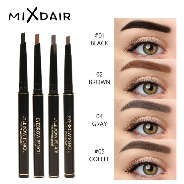 MIXDAIR 4 Colors Eyebrow Pencil Natural Waterproof Long Lasting Paint Tattoo Eye Brow Pen Eye Makeup Cosmetic