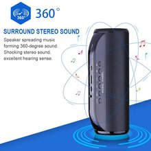 Wireless Bluetooth Speaker 4 0 with NFC TF Card Function 12 Hours Playtime Diaphragm Dual Speakers