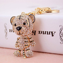 Fashion Korean Lovely Tiger Key Ring Personality Car Keychain Bag Charm Purse Pendant Keyring Key Chain Wholesale Retails