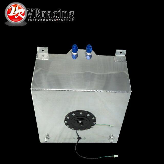 VR RACING - 40L Aluminium Fuel Surge tank with Cap Fuel cell 40L with sensor foam inside VR-TK40 40l aluminium fuel cell tank polished twin an 10 outlets 10 gal tk yx9440 40