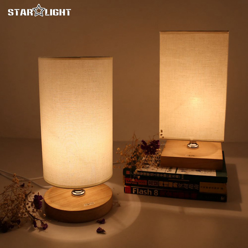 ФОТО Wood  Table Lamp For Bedroom Lamparas De Mesa Bedroom Lamp modern Table Lamps For Living Room Lampe Deco