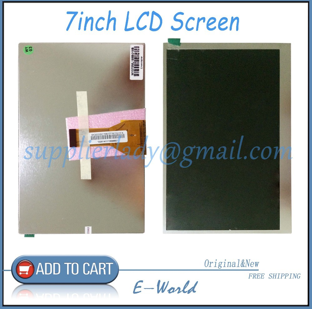 (Ref:BF757-070-01 / WY070ML186B018B ) 7inch Matrix Irbis TX-69 3G T7020MG TFT LCD Screen Panel Lens replacement Free Shipping