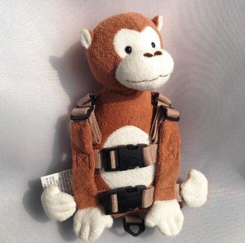 Приятель для того, чтобы держать 2-в-1 Детские накладной Рюкзак Детские поводья для От 1 до 3 лет вокруг - Цвет: White Face Monkey