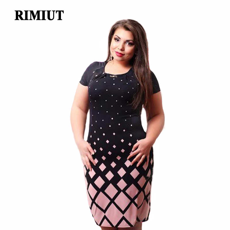 Big size 6XL 2017 Fat MM Woman Summer Dress Elegant Loose Dresses plus size  women clothing 99625892c54a