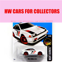 Free Shipping Alloy Mini Roadster Diecast Cars White 1985 HONDA CR X Models For Collection Wholesale
