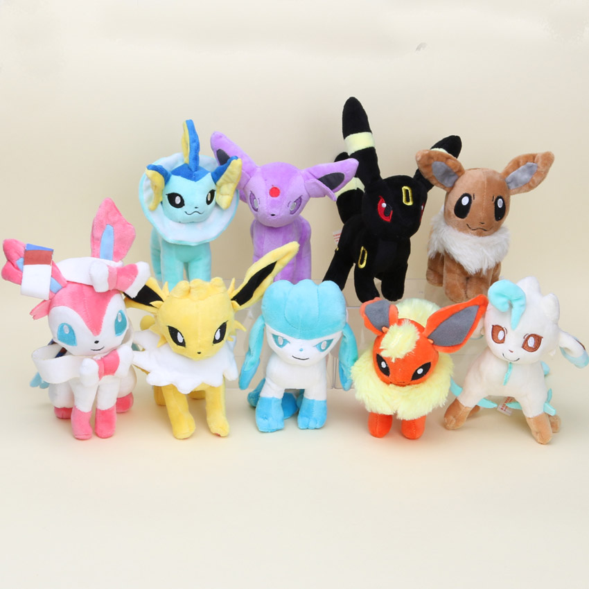 16-23cm Pocket doll Plush Eevee Espeon Jolteon Umbreon Vaporeon Flareon Glaceon Leafeon Plush Toys Dolls