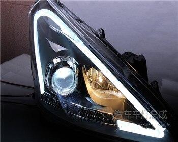 تناسب لنيسان تيدا تعديل زينون المصابيح الأمامية q5 المزدوج عدسة الصمام عيون على خط مصباح سباق الشواية الشوايات مصبغة