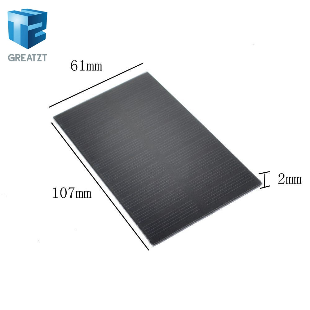 Smart Electronics Solar Panel 1w 5v Electronic Diy Small Solar Panel For Cellular Phone Charger Home Light Toy Etc Solar Cell Active Components Electronic Components & Supplies