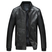 Factory Men Genuine Leather Coats Real Sheep Skin Brand Black Male Bomber Motorcycle Biker Man S