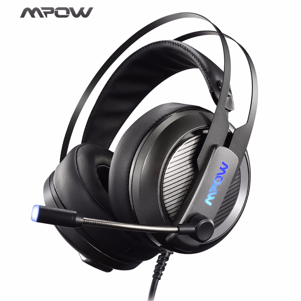 Mpow EG4 Gaming Headset With Rotatable Noise Cancelling Mic LED Backlight Virtual 7.1 Channel Stereo Headphone For PC/PS4
