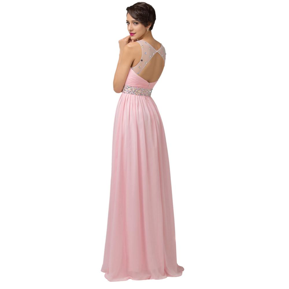 Grace Karin Cheap Pink Purple Bridesmaid Dresses Under $50, Long Backless Designer Wedding Guest Dress For Bridemaid Party 6112 8