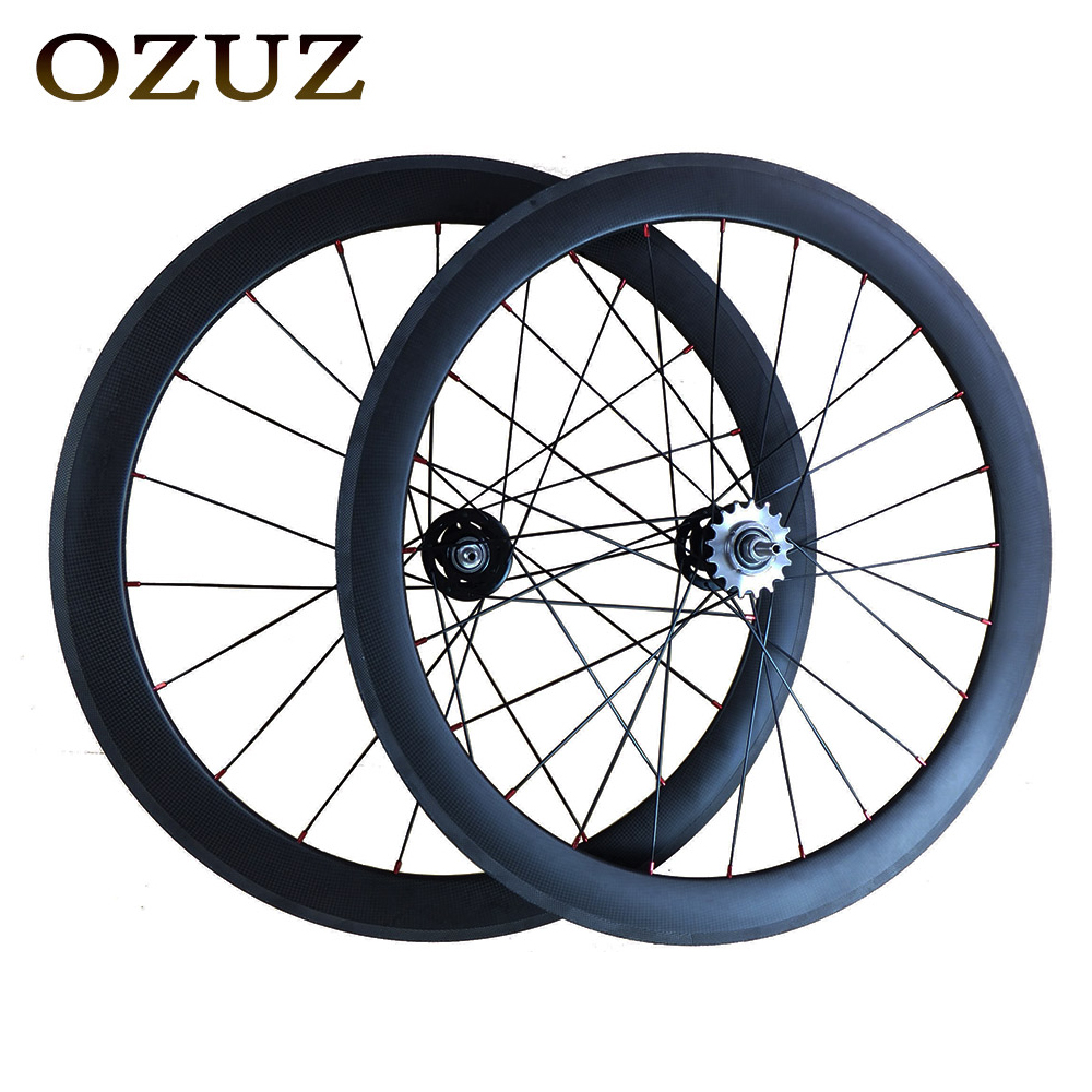 Free Customs Fee 50mm Carbon Bike Wheel Track Fixed Gear Clincher Flip Flop fixed gear Single Speed 700C Cycling wheels 1pcs magnesium alloy single speed fixed gear bike wheels 700c road racing venues inch wheel bicycle accessories