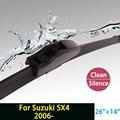 """Limpiaparabrisas para Suzuki SX4 (desde 2006 en adelante) 26 """"+ 14"""" estándar fit J gancho limpiaparabrisas armas sólo HY-002"""