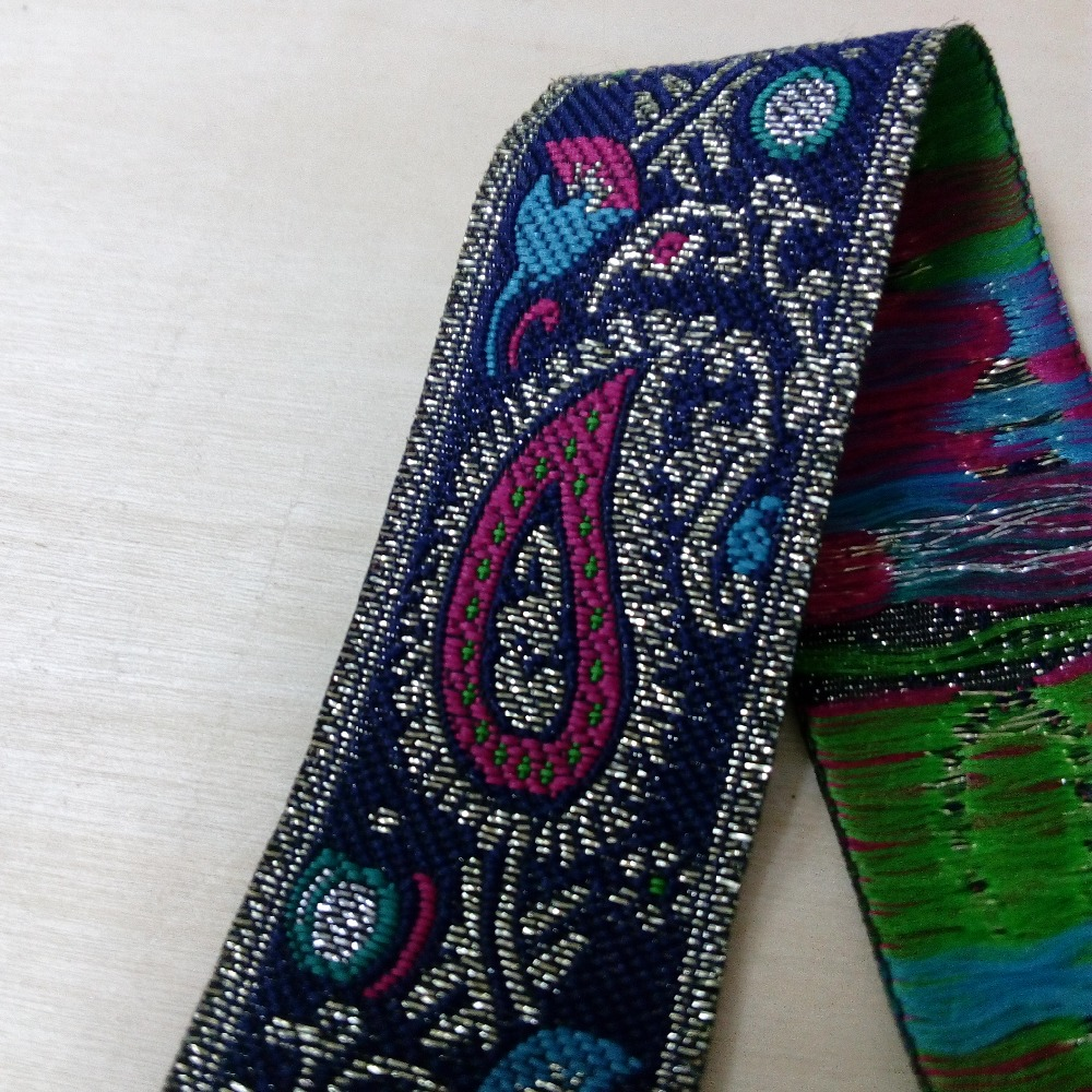 Jacquard Ribbon 1+1//4 inch wide White - Gold - Red price for 1 yard